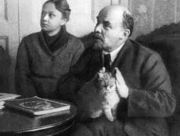 Ленин с котом.