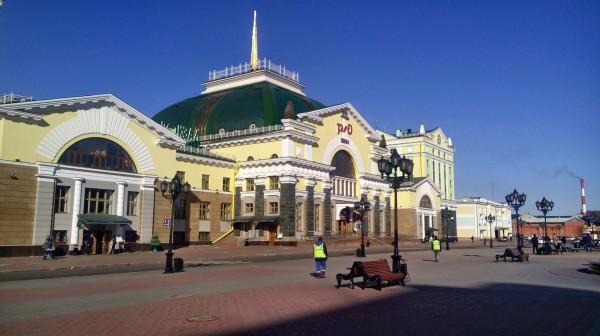 Вид с крыльца Красноярского дурдома №1.