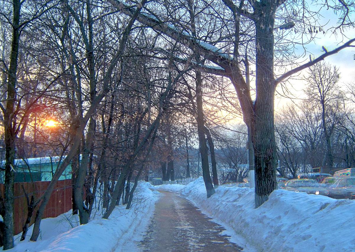 дорожка от станции закат