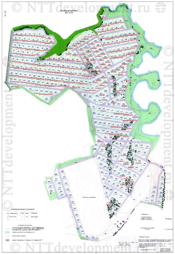 Градостроительный план ДНТ