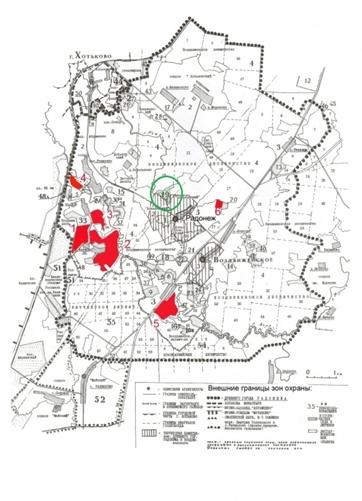 ДНТ на карте общий вид
