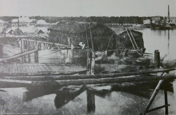 Вид со Смольной набережной, 1852 год