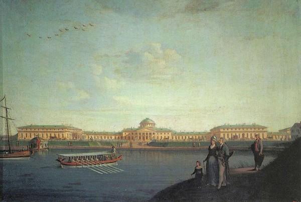 Бенджамен Патерсон. Вид Таврического дворца со стороны Невы. 1797 год