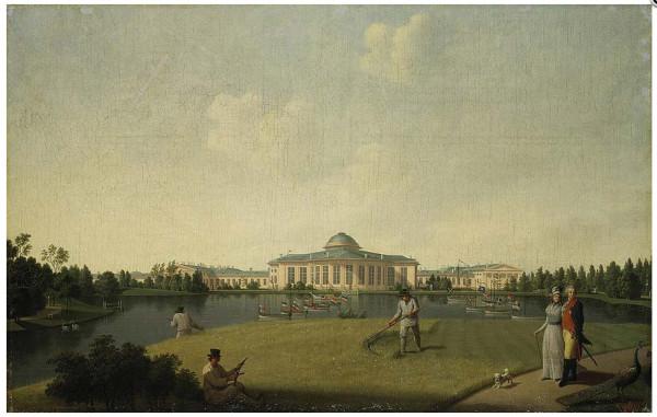 Бенжамен Патерсен. Вид Таврического дворца со стороны сада. 1797 год