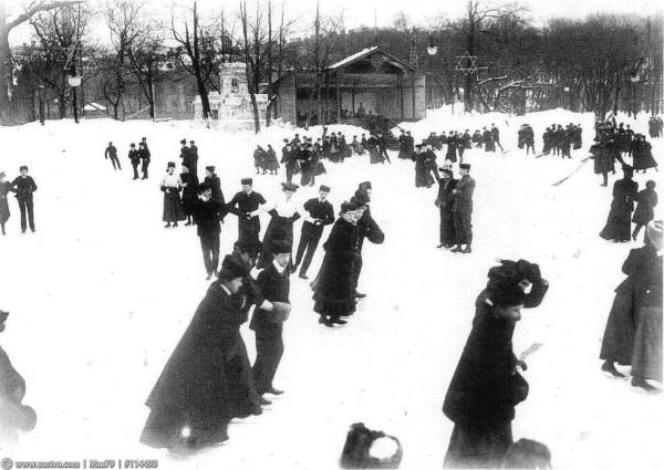 Группы на катке. Таврический сад, 1908 год