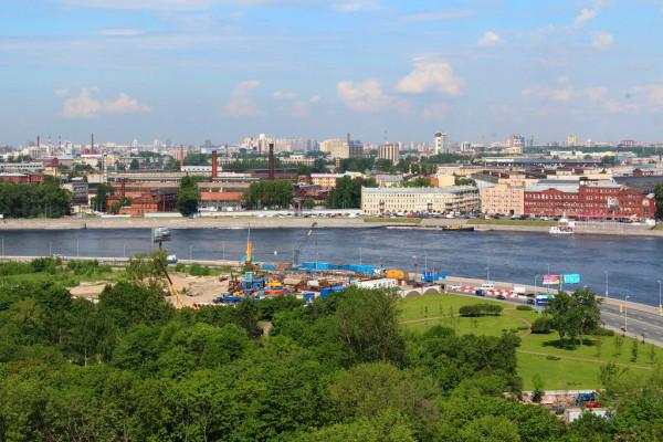 Строительство ЖК Смольный парк, 2013 год
