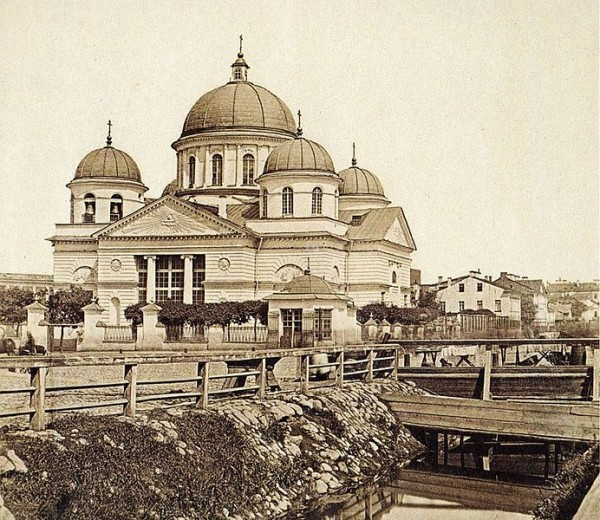 Лиговский канал у Знаменской церкви. Фото 1860-х