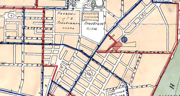 Фрагмент плана Санкт-Петербурга 1911 года