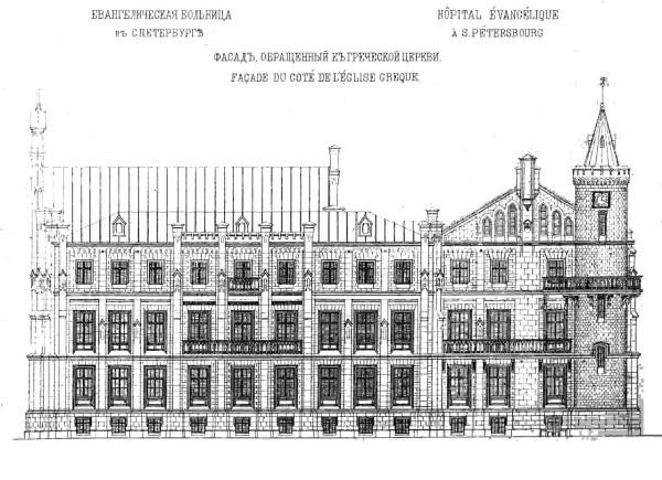 Фасад, обращенный к греческой церкви, Зодчий, 1872 год