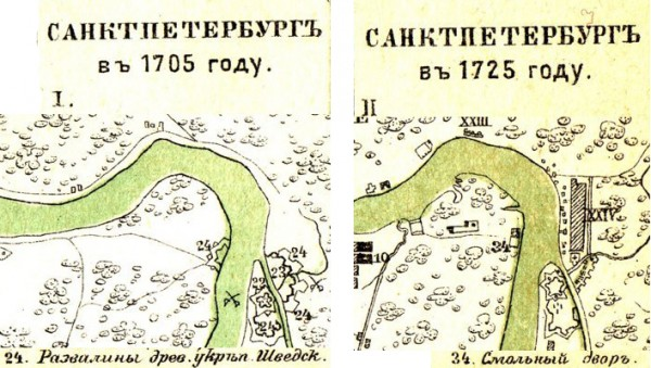 Карты Санкт-Петербурга, энциклопедический словарь Брокгауза и Ефрона