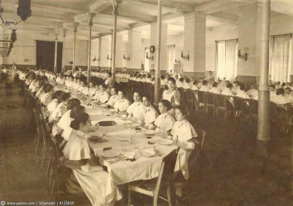 Смольный институт. В столовой, 1913 год