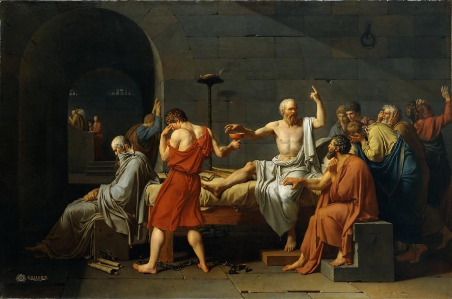 Жак-Луи Давид - Смерть Сократа
