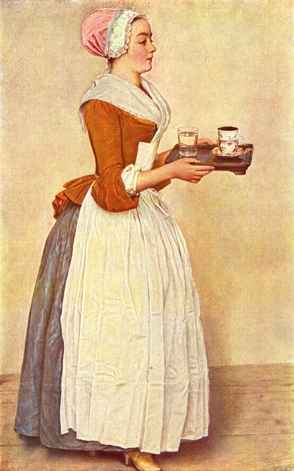Jean-Étienne Liotard (1702-1789)-'the chocolate girl' -(1743-1745)