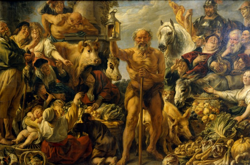 Jacob Jordaens (1593-1678)-'Diogenes searching for an honest man' -ca 1642