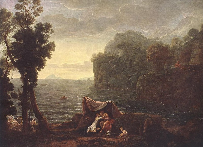 Claude Lorrain (ca 1604-1682)-'landscape with Acis and Galathe'