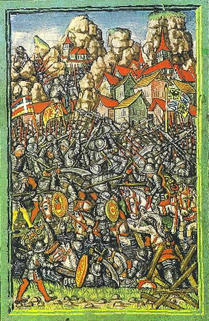 Diebold Schilling the younger (ca 1460-1515)-'battle of Giornico (28th December 1478-Canton Ticino)'-miniature
