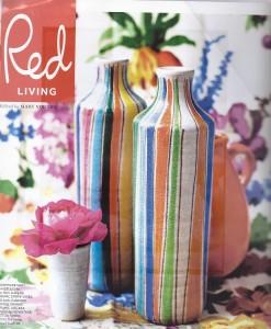 stripy vases