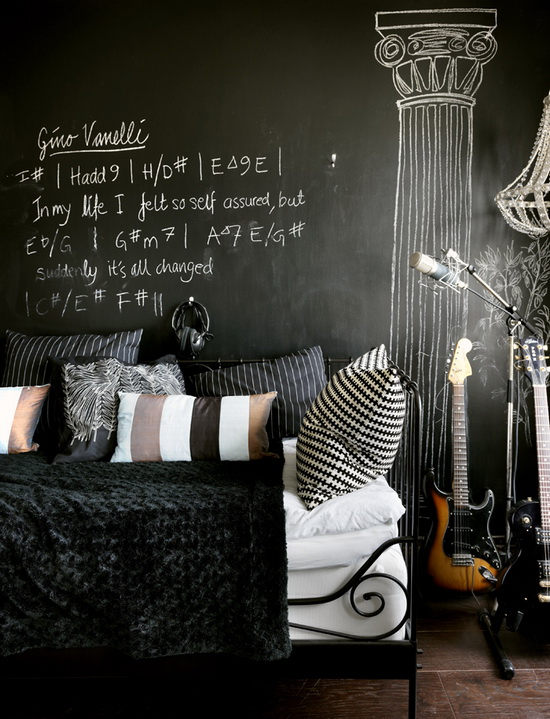 Punk design cues for a teenager& bedroom