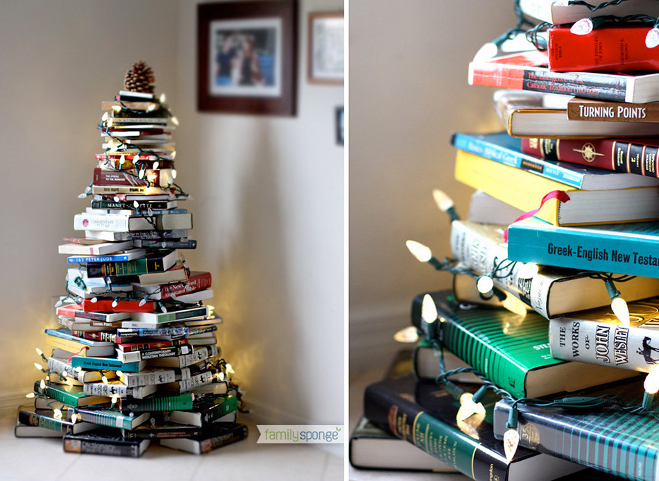 Christmas-Tree-made-from-Books