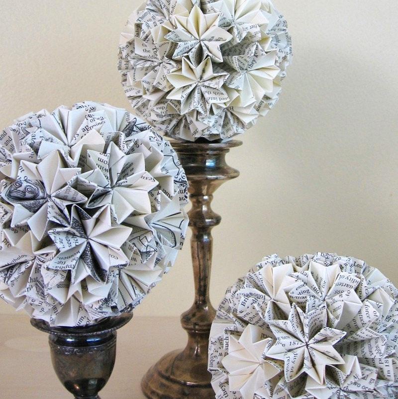 Ball-of-Stars-Origami-Kusudama-Ornament-Eco-Decor-by-bookBW-1