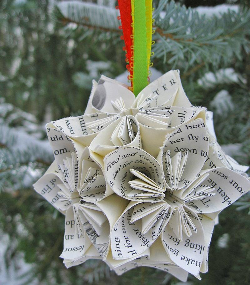 Upcycled-Harry-Potter-Kusudama-Ball-Christmas-by-TreeTownPaper-2