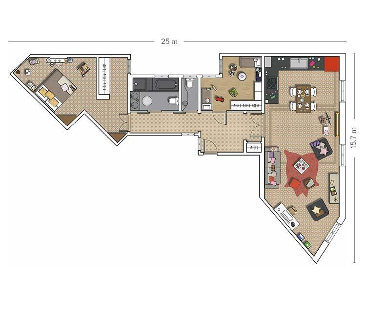 Micasa Квартира в Барселоне plan