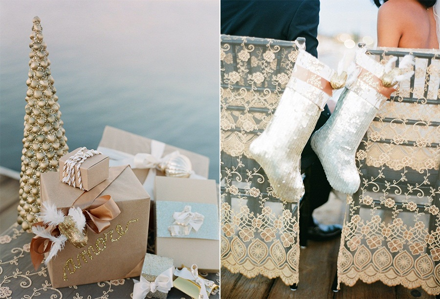Style Me Pretty  Gondola Holiday Wedding Shoot from Esther Sun Photography 12