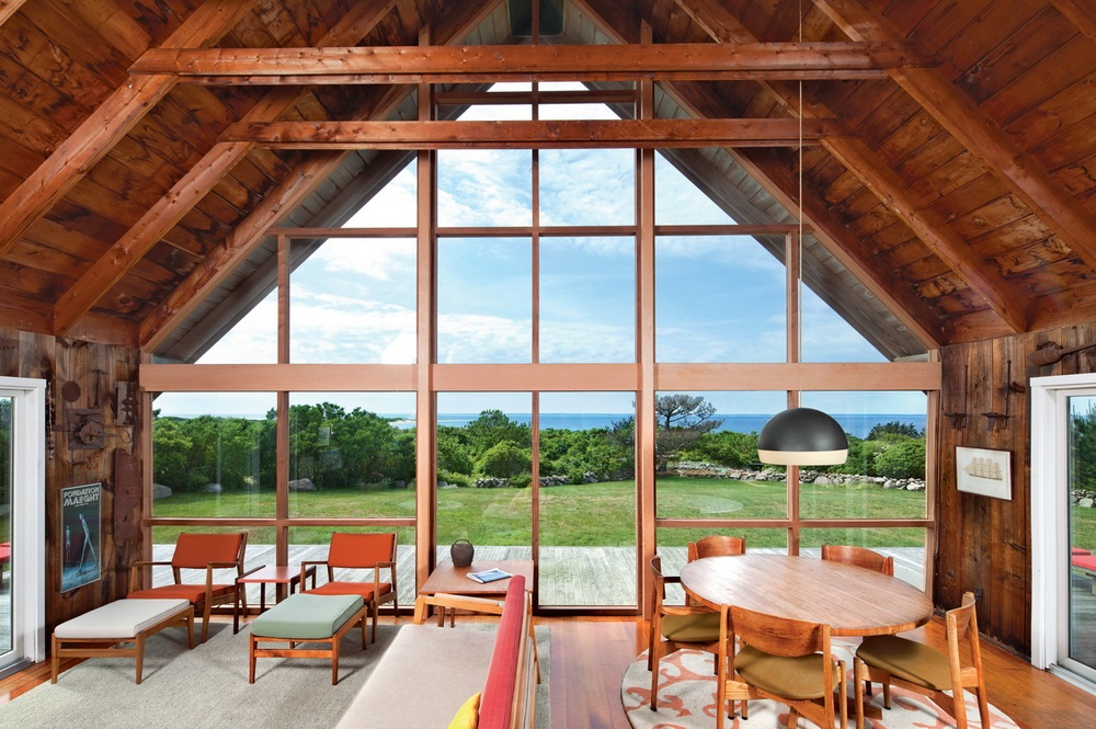 Dwell Jens Risom's Block Island Family Retreat risom-residence-dining-living-room