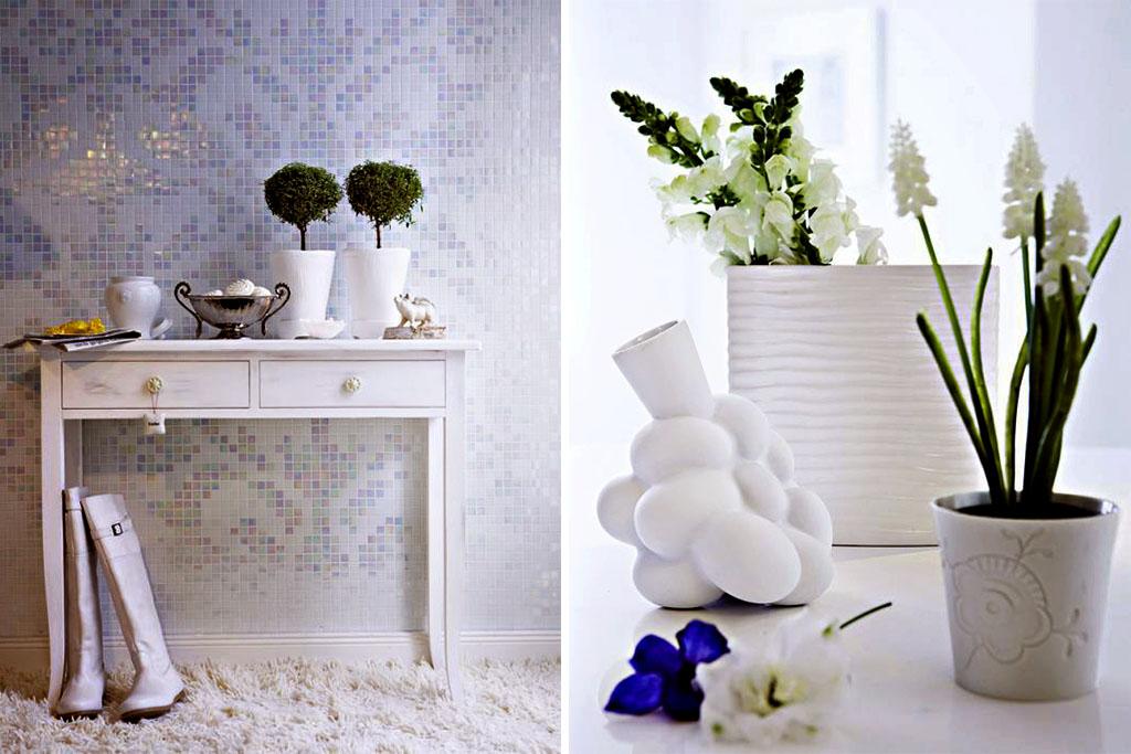 Zuhausewohnen Schlicht und stilvoll Trendfarbe Weib 3