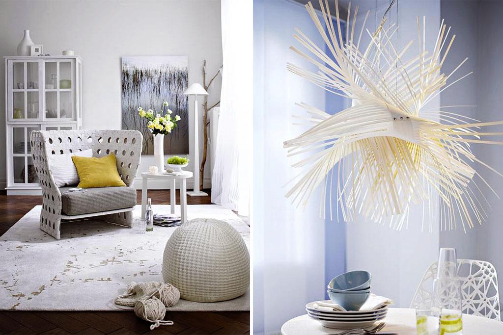 Zuhausewohnen Schlicht und stilvoll Trendfarbe Weib 4
