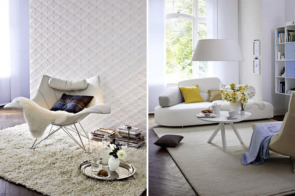 Zuhausewohnen Schlicht und stilvoll Trendfarbe Weib 5