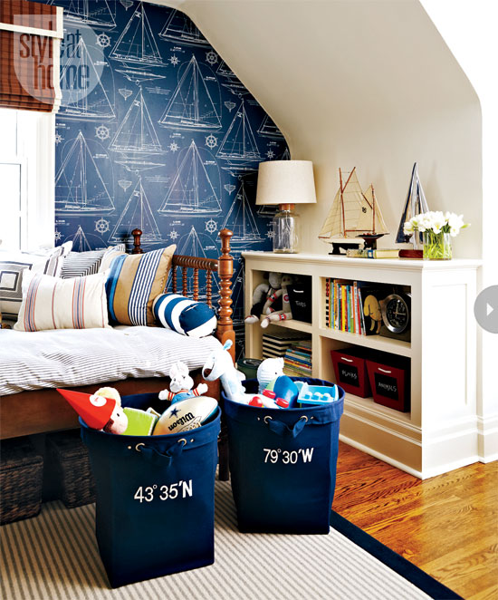 Style At Home Interior A nautical nursery 1