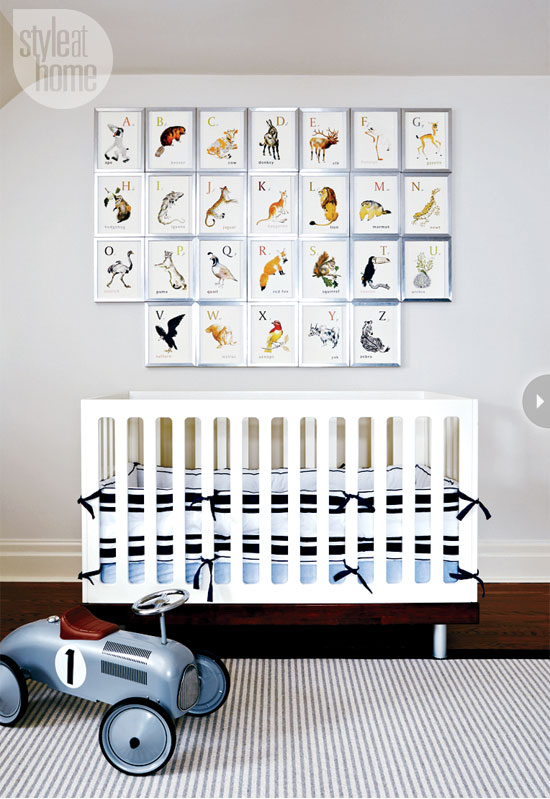 Style At Home Interior A nautical nursery 2