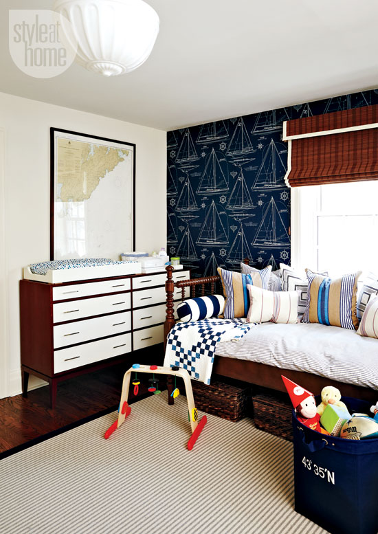 Style At Home Interior A nautical nursery 4