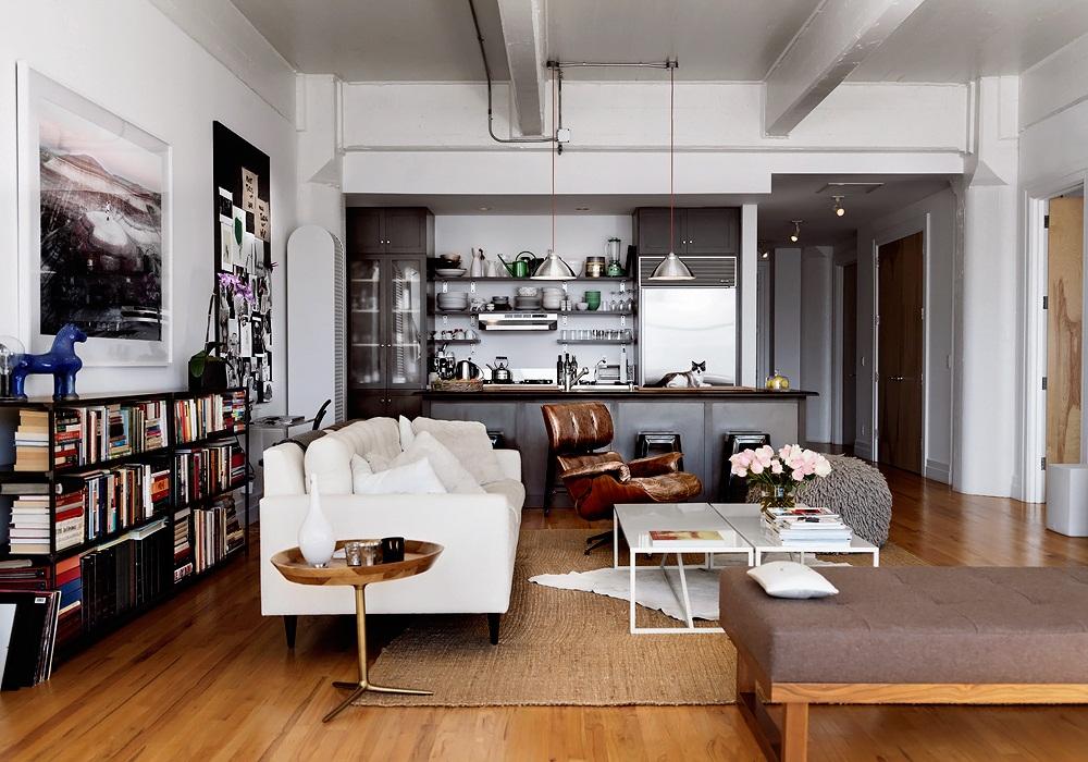 Skona Hem Mixat modernt Brooklynloft 1