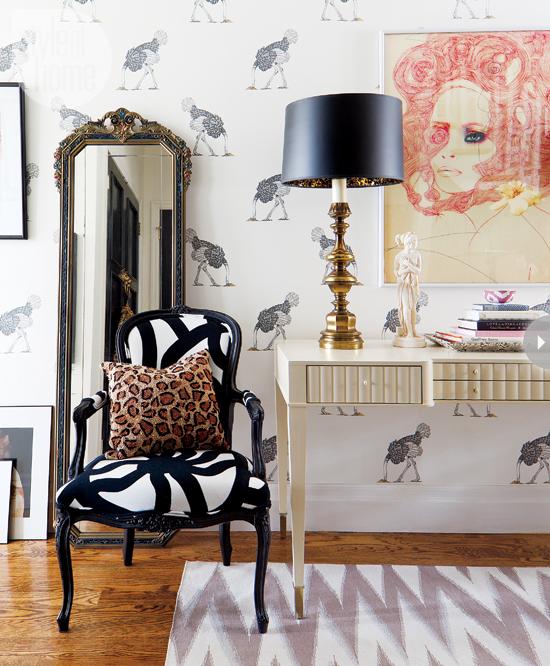 Style At Home Interior Feminine glam home feminineglam-flirty-style
