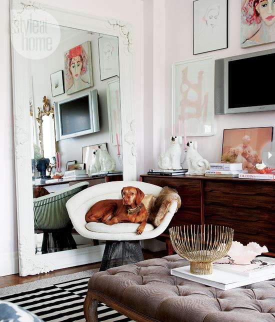 Style At Home Interior Feminine glam home feminineglam-livingroom