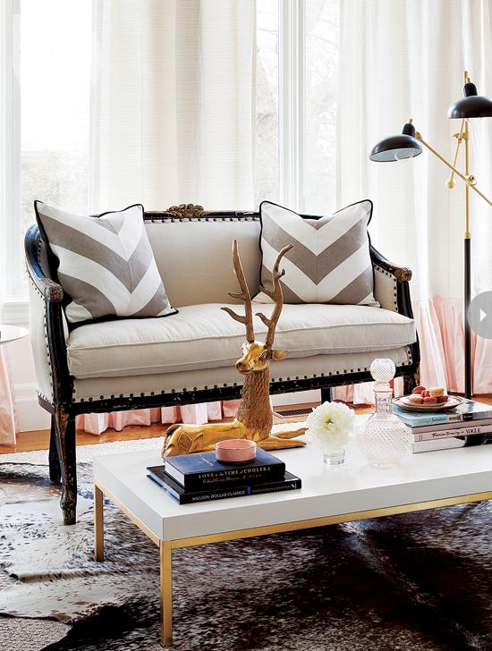 Style At Home Interior Feminine glam home feminineglam-coffeetable