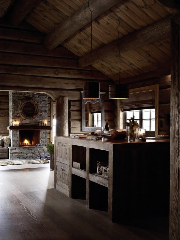 Interior magasinet Tradisjonsrikt hyttetun - pa Norefjells tak 3