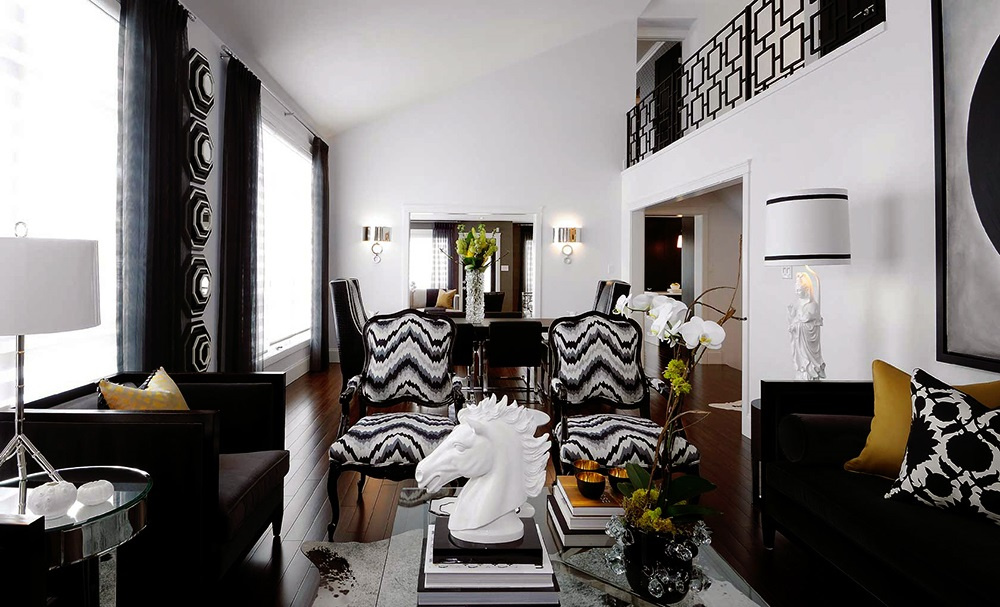 Black n 39 white s t a r d u s t decor style for Black n white living room
