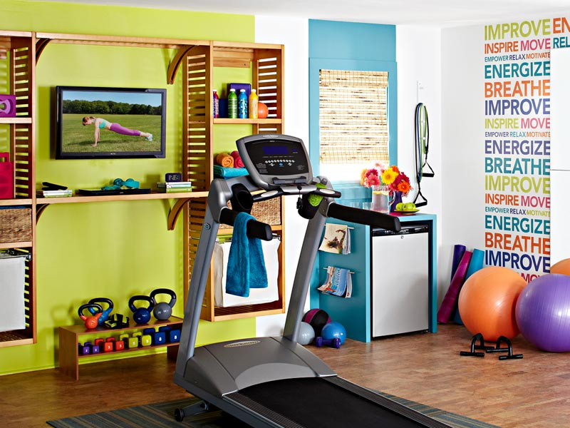 Lowe s Creative Ideas Home Gym Makeover 1