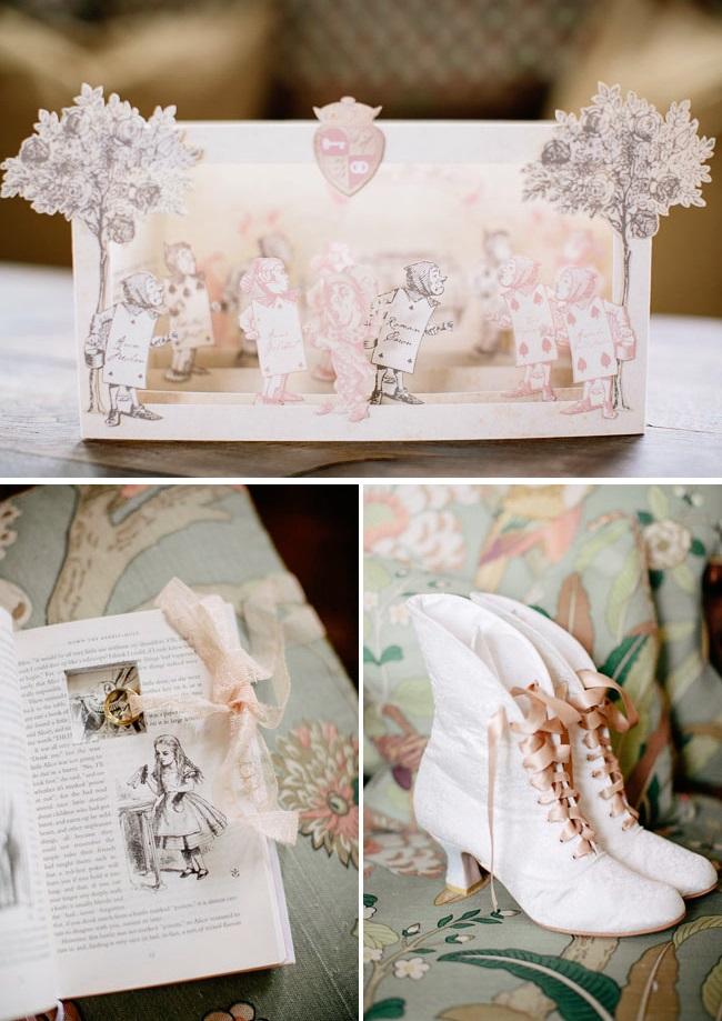 Alice in Winter Wonderland Wedding Sabrina and Hubert  Green Wedding Shoes 1