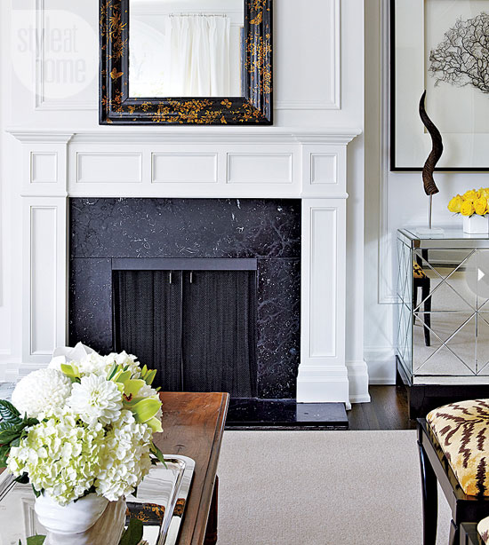 Style At Home Interior Classic elegance classic-elegance-fireplace