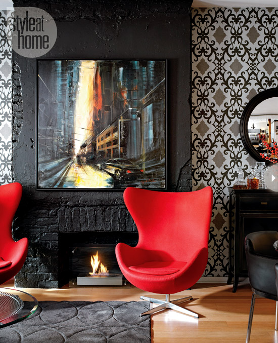 Style At Home Small space Bold and whimsical loft 2