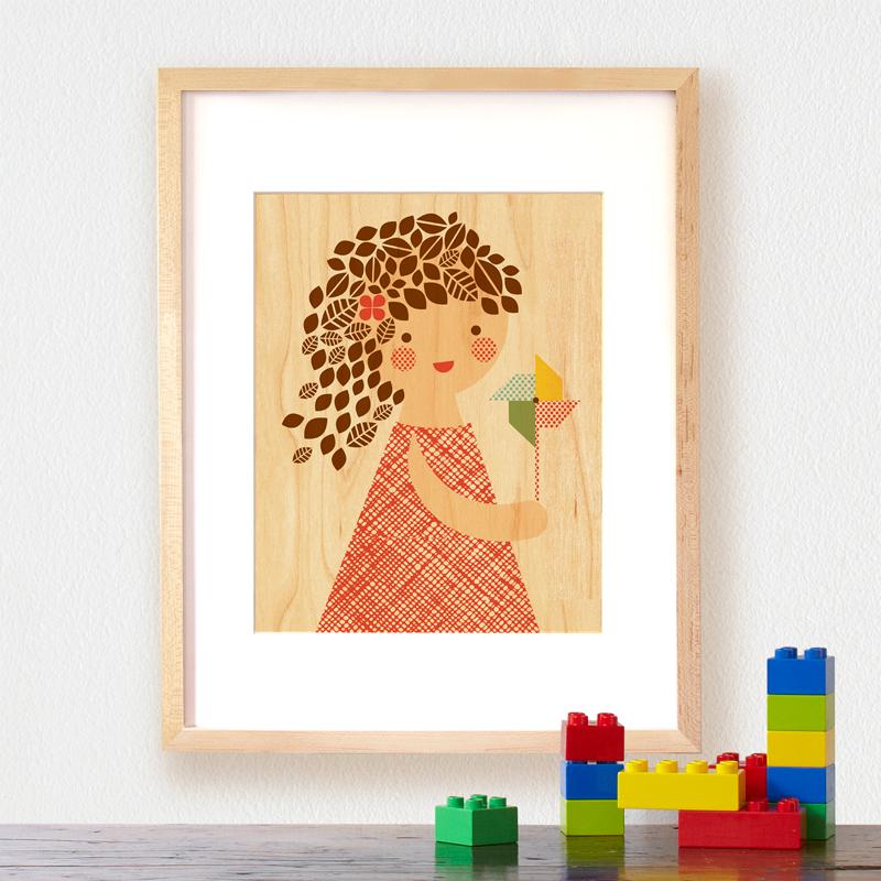 Petit Collage Modern Wall Decor pinwheel-girl-lifestyle