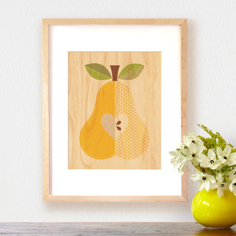 Petit Collage Modern Wall Decor pear-lifestyle