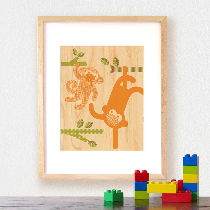 Petit Collage Modern Wall Decor monkey-baby-lifestyle