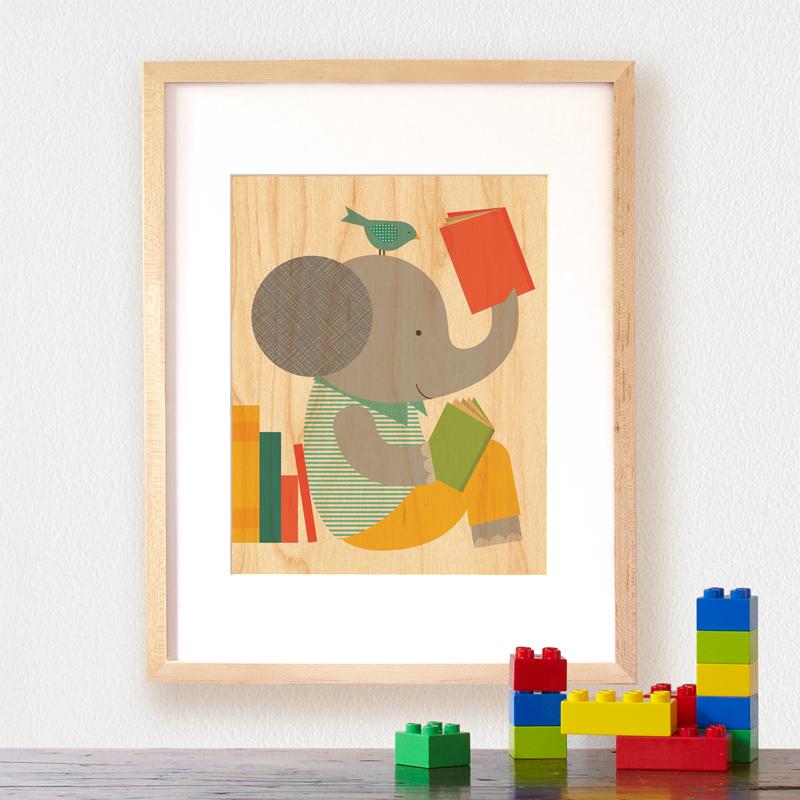 Petit Collage Modern Wall Decor read-elephant-lifestyle