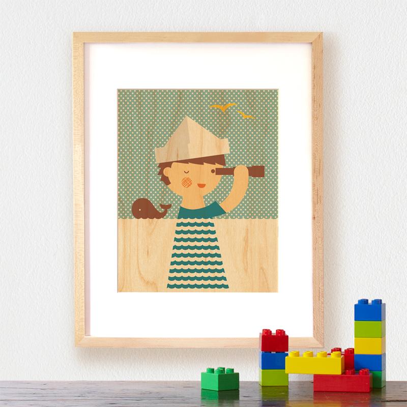 Petit Collage Modern Wall Decor sailor-boy-lifestyle