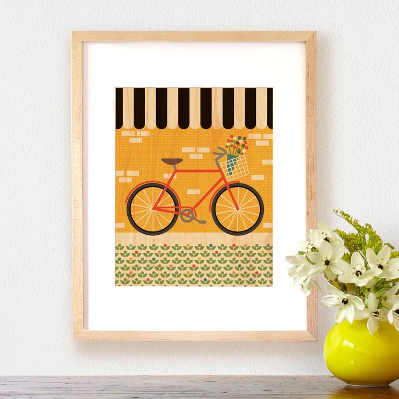 Petit Collage Modern Wall Decor pw_bike_lifestyle